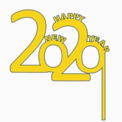 Descargar modelo 3D gratis Máscara Feliz Año Nuevo 2020, Centro3D