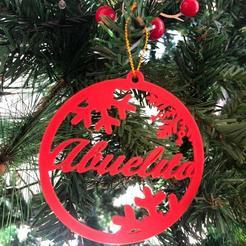 Descargar archivos STL gratis Decoración árbol de navidad Abuelita y Abuelito, Centro3D