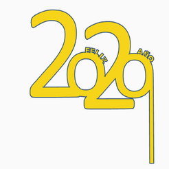 Impresiones 3D gratis Antifaz feliz año 2020, Centro3D