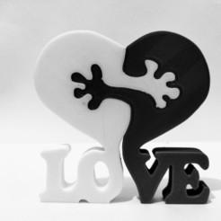 Descargar modelos 3D Rompecabezas del corazón de los amantes, Imaker3D