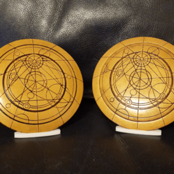 Printed Front and Front.png Download STL file Doctor Who Confession Dial (Closed) • 3D printing object, colinp_hughes