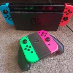 20200810_180505.jpg Download STL file Nintendo Switch Joy-Con Comfort Grip (Contoured) • 3D printer object, colinp_hughes