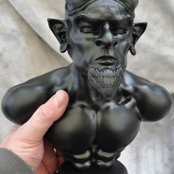 Download 3D printing designs Devil/Demon Bust Sculpture, colinp_hughes