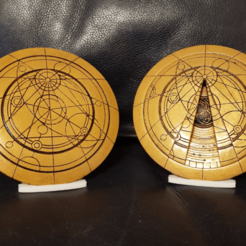 Printed and Finished S1-S3.png Download STL file Doctor Who Confession Dial (Opening) • 3D print object, colinp_hughes