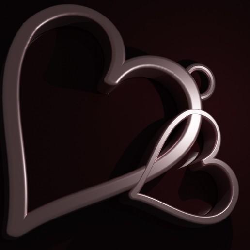 Download 3D printer designs Hearts pendant, Entropia_95