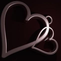 Download free STL file Hearts pendant • 3D printable template, Entropia_95