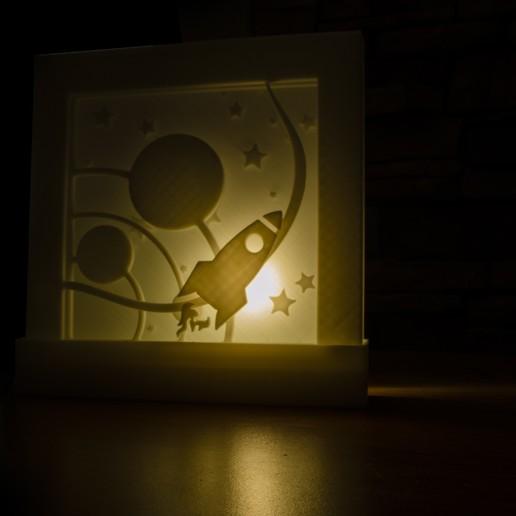 Download 3D printing models Space Lamp, Entropia_95