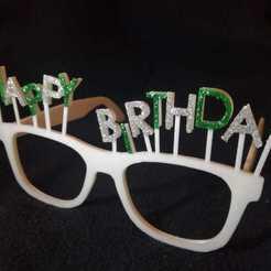 foto1.jpeg Download STL file Birthday glasses • Design to 3D print, Entropia_95