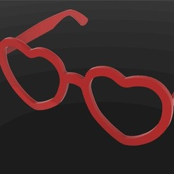 Download free 3D printing designs Heart shape glasses, Entropia_95