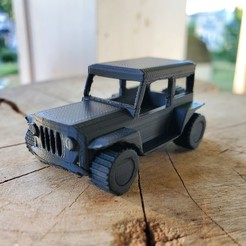 Download free 3D printer templates Tinker Cad stationary jeep, choppadechop
