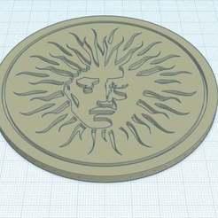 Imprimir en 3D gratis V Grabaciones Logo Coaster, neurokinetik