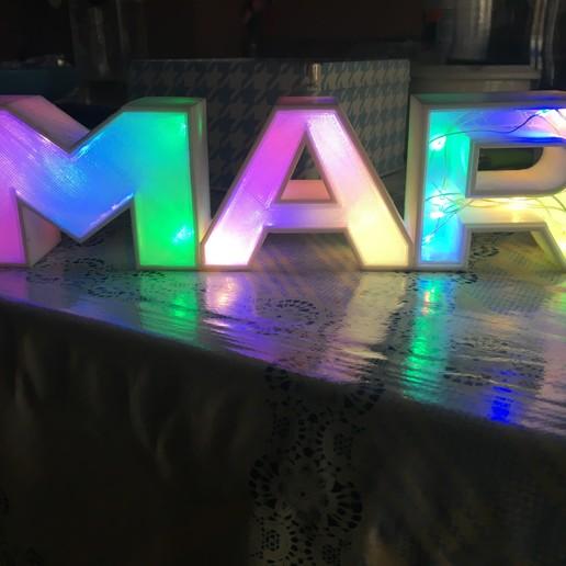 IMG_0937.JPG Download free STL file LUMINOUS LED NAME - SEA • 3D printable design, cristotier