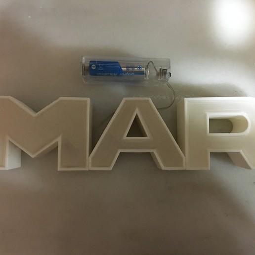 image.jpg Download free STL file LUMINOUS LED NAME - SEA • 3D printable design, cristotier