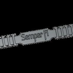 semper_fi_mask_band.png Télécharger fichier STL gratuit Boucle personnalisée du masque facial • Objet imprimable en 3D, Br8knitOFF