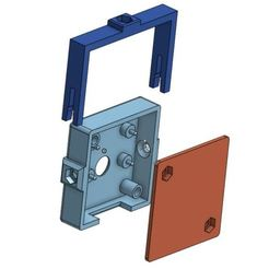 Download free STL PiCam Cover with CR-10 mount, BePrint