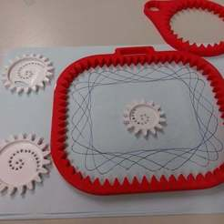 Download free 3D printing templates Spirograph Remix for little Kids, BePrint