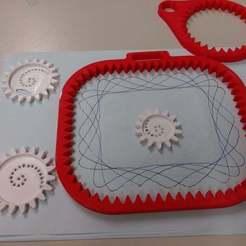 Spirbase_XXL.jpg Télécharger fichier STL gratuit Spirograph Remix pour les petits enfants • Design imprimable en 3D, BePrint
