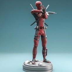 dea3.jpg Download STL file Deadpool statue 3D print • 3D printing model, felipepipe123