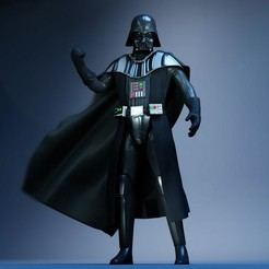 Download 3D printing templates darth vader Low-poly, felipepipe123