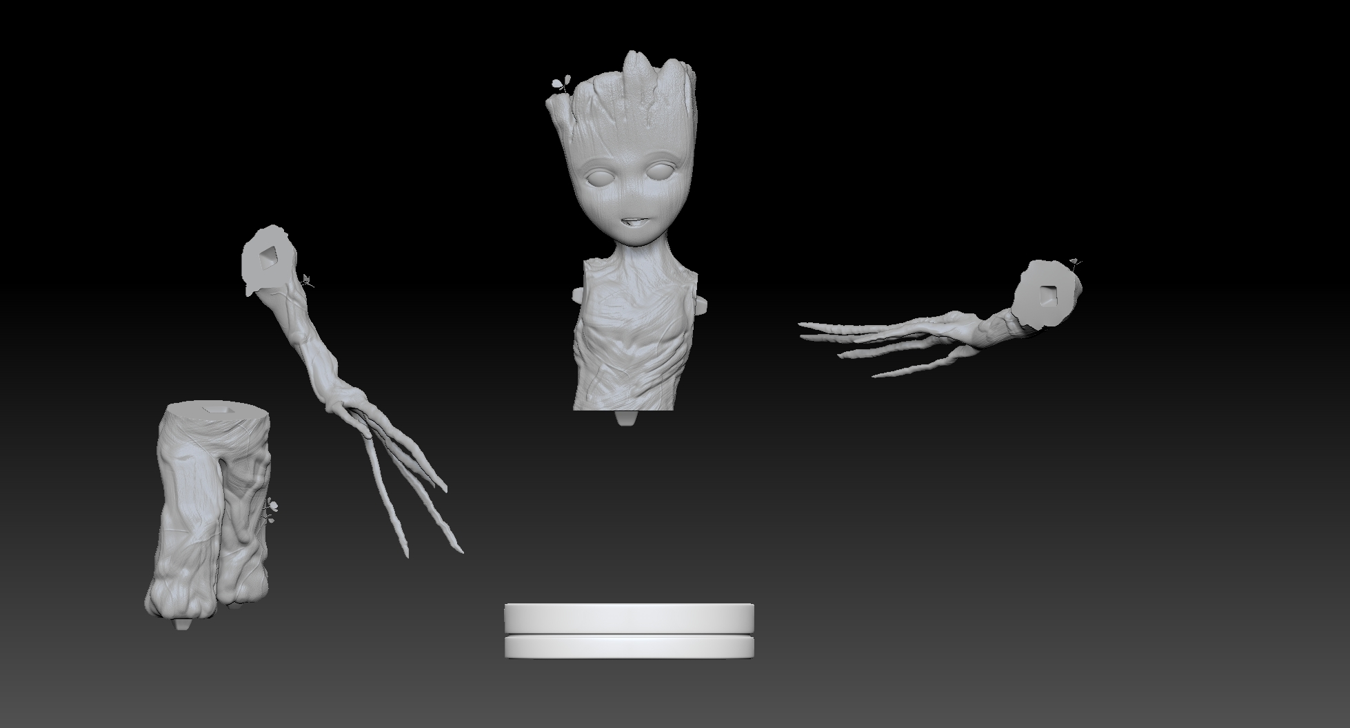 ZGrab02.jpg Download STL file baby groot 3d print • 3D printable template, felipepipe123