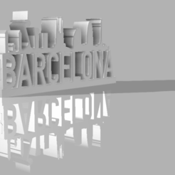 Download free 3D printing models Simply souvenir Barcelona , elaticoacido
