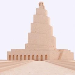 Télécharger fichier 3D le minaret en spirale de Samarra, en Irak, INCEPTION