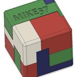 Entier.jpg Download free STL file Brain Teaser Puzzle • 3D printable object, Mike37fr
