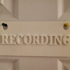 Download free 3D model Recording Sign, yinyang4ever
