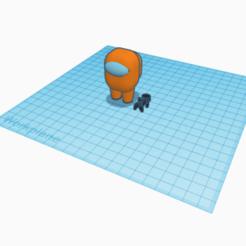 Among Us with stickman pet.png Download STL file Among Us Crewmate with stickman pet • 3D printable template, bluenichols