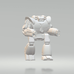 Download free STL file American Mecha Pistolier • 3D printing object, MikeyO