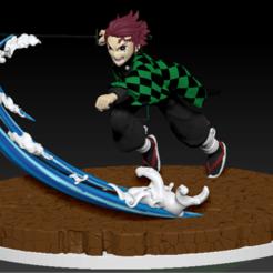 Descargar STL figura de tanjiro kamado del anime kimetsu no yaiba, neutronmorenojj