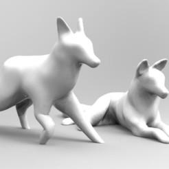 untitled.106.jpg Télécharger fichier STL LOUPS ALEBRIJES DÉCORATIFS, PACK X2 • Design pour impression 3D, neutronmorenojj