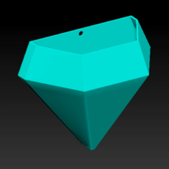 Imagen1.png Download STL file matera in diamond shape to hang on the wall • 3D printer model, neutronmorenojj