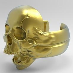 Descargar archivo 3D gratis anillo calavera o craneo, neutronmorenojj