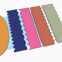 paletas.png Download STL file SET 5 PASTRY SPATULAS 10 DESIGNS • 3D print object, neutronmorenojj