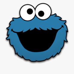 Cookie Monster.png Télécharger fichier STL Fondant de monstre de biscuits de la rue Sésame / Coupe-biscuits avec marqueur • Modèle pour impression 3D, 3DSweetBakery