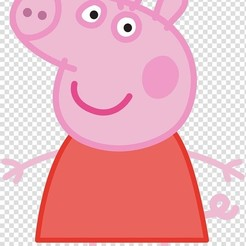 Peppa.jpg Download STL file Peppa Pig Cookie/Fondant Cutter with Marker • 3D printable object, 3DSweetBakery