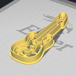 Télécharger fichier STL Biscuit à la guitare électrique / Coupeur de fond, 3DSweetBakery