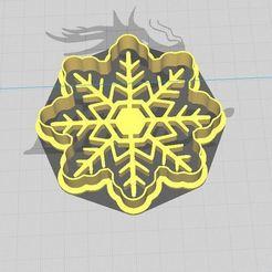 Copo Daniela 2.JPG Télécharger fichier STL Biscuit de Noël aux flocons de neige et découpeur de fondants avec gaufrage • Plan pour imprimante 3D, 3DSweetBakery