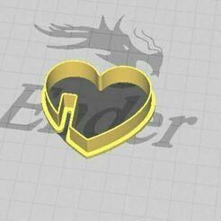 Corazón para taza 2.JPG Télécharger fichier STL Coeur pour tasse de café ou de thé Biscuit et coupe fondante • Objet à imprimer en 3D, 3DSweetBakery