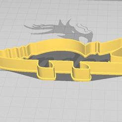 C1.JPG Download STL file Crocodile Cookie/Fondant Cutter • Template to 3D print, 3DSweetBakery
