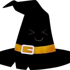 Hat1.jpg Télécharger fichier STL Biscuit de chapeau de sorcière d'Halloween / Coupe-fondant avec marqueur • Plan à imprimer en 3D, 3DSweetBakery