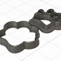 Dog Footprint Fondant 1.JPG Télécharger fichier STL Mini coupeur de fond d'empreinte de chien • Design pour impression 3D, 3DSweetBakery