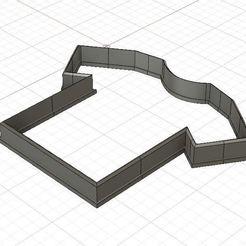T-shirt 1.JPG Download STL file T-shirt Cookie/Fondant Cutter • 3D printer model, 3DSweetBakery