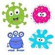 Download 3D printer model Coronavirus and other Viruses Cookie Cutter Set, harold6