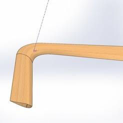 Descargar STL gratis Boomerang de perfil alar..   110º  , Titosoft