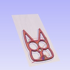 mustaa.jpg Download free STL file Self Defense Cat Knuckles Key Chain • Model to 3D print, iSuat