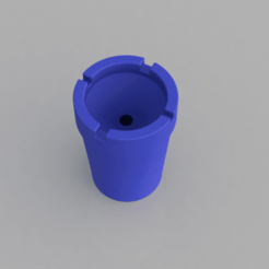 ash.png Download free STL file Portable Odorless Beach/Travel Ashtray • 3D printing template, iSuat