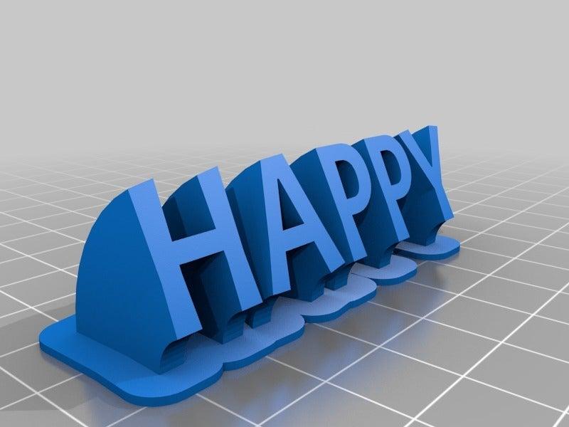 e272826ca53928760cdba30d40366ce4.png Télécharger fichier STL gratuit Plaque de nom Happy My Customized Sweeping • Objet pour impression 3D, iSuat