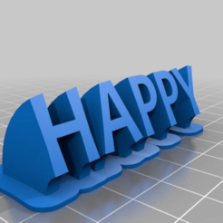 Descargar modelos 3D gratis Happy My Customized Sweeping name plate, iSuat